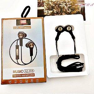 Fone P2 Atende Sports Earphone AZ 888 com Microfone