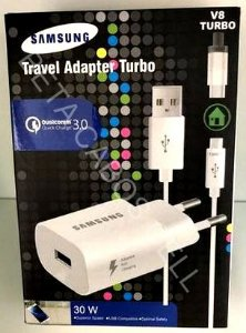 Carregador Turbo Travel Adapter Turbo  30W  V8 TURBO preto