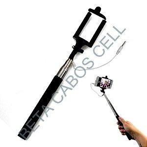 Monopod Bastão de Selfie Stick Cabo P2 78cm