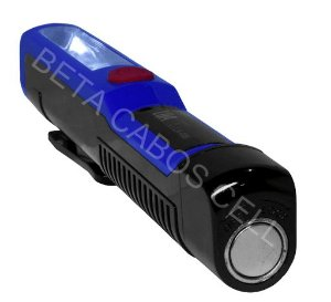 Lanterna Lk-006 Luatek com Imã lampada Frontal e Lateral Pilha AAA Não Inclusa