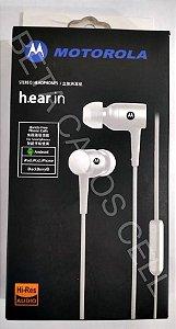 Fone estilo Motorola Stereo Headphones h.ear in