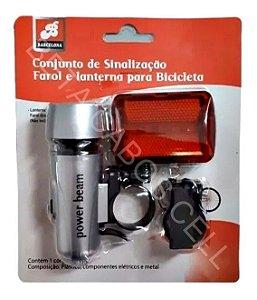 Kit Farol E Lanterna Para Bicicleta Bike Frontal E Traseira BAR 52705-22