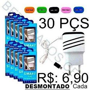 Carregador de Celular Parede para V8 Smart  3.1A CX Com 30 Peças Valor Unitario R$: 6,90 - DESMONTADO