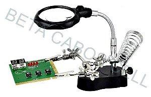 Suporte para Placa de Celular com Lupa e Led TE-801 TE 801