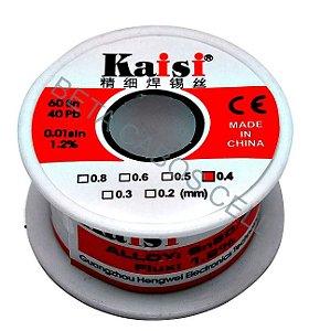 Fio Estanho Para Solda Fio De Solda 0.4mm Kaisi