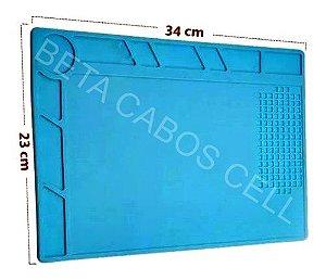 Manta Tapete de Isolamento S120 em Silicone Resistente ao Calor para Manutenção de Eletrônicos 340 x 230mm