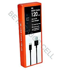 Cabo V8 2A Carregamento Rapido 1,20m USB Cable Fast Charger