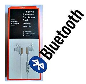 Fone Sport Earphones Bluetooth com Microfone