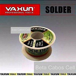 Fio Estanho Para Solda  Fio De Solda 0.5mm Super Fino Yaxun Rolo de 40g ORIGINAL -B