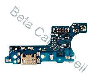 Conector De Carga Placa Dock Flex Usb para Samsung A01 com Microfone