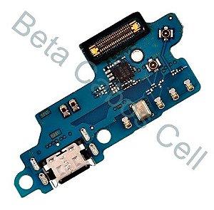 Conector De Carga Placa Dock Flex Usb para Samsung A60 com Microfone