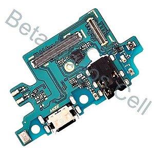 Conector De Carga Placa Dock Flex Usb para Samsung A40 com Microfone