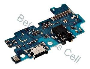 Conector De Carga Placa Dock Flex Usb para Samsung A50s com Microfone