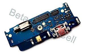 Flex Placa Conector De Carga com Microfone Moto E4