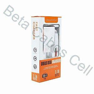 Carregador V8 Hmaston Super Rapido 2 USB Y15-1 Y15 1 3.1A