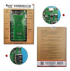 Placa para Reativar Bateria Compatível Iphone até 11 Pro Max Samsung KAISI K-9208 9208 com Lcd Duplo