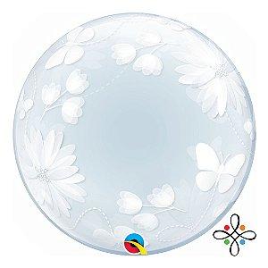 """Balão Bubble com Borboletas - 20""""/51cm"""