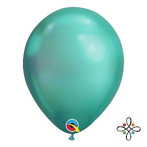 """Balão Chrome Látex Verde - 11"""" Polegadas"""