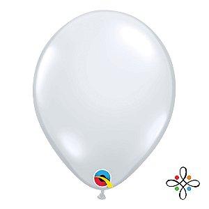 """Balão Transparente Diamante Claro - 11"""" Polegadas"""