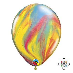 """Balão SuperAgate Tradicional - 11"""" Polegadas"""