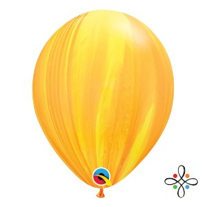 "Balão SuperAgate Amarelo Laranja - 11"" Polegadas"