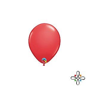 """Balão Opaco Vermelho - 5"""""""