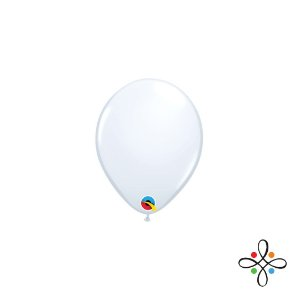 "Balão Opaco Branco - 5"""