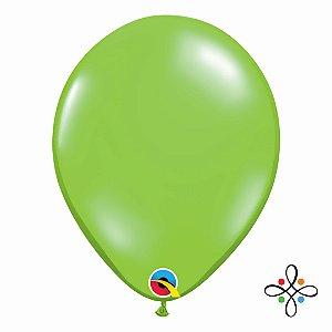 """Balão Transparente Jewel Lime - 11"""""""