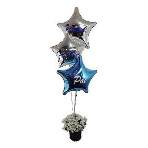 Buquê Personalizado (03 Metalizados Estrelas Personalizados)