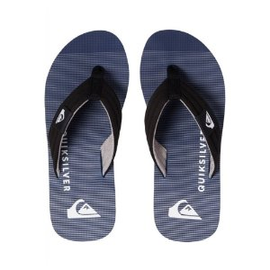 Chinelo Quiksilver Layback Black/Grey