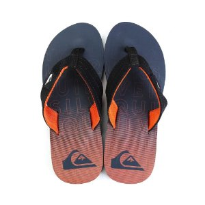 Chinelo Quiksilver Layback Orange/Black