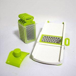 Ralador Fatiador Cortador Mandoline Kit 6 X 1 Inox Alimentos