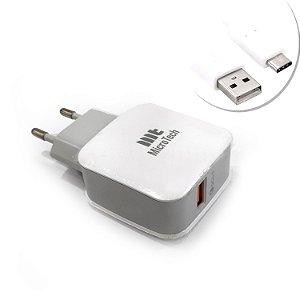 Carregador Ultra Rápido Cabo USB  Smartphone Turbo Ch-Tipo C