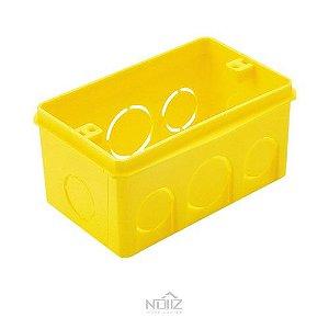 Caixa de Luz 4x2 Retangular Amarela Amanco
