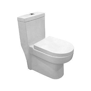 Vaso sanitário monobloco modelo Deartha Fechamento suave