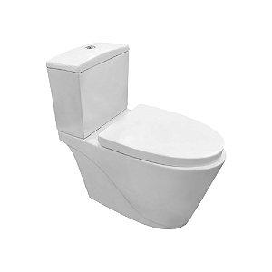 Vaso sanitário com caixa acoplada Modelo Deallus Fechamento suave