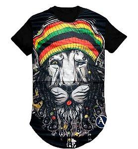Camiseta Swag Long Line Oversized Blusa Reggae- M