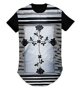 Camiseta Swag Oversized Longline Gospel- Cruz  - M