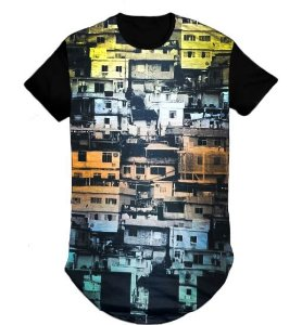 Camiseta Swag Long Line Oversized Blusa City - M
