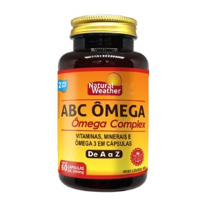 ABC ÔMEGA - Polivitamínico e mineral com Ômega 3 Natural Weather- 60 Softgels