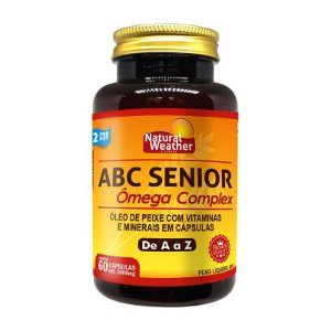 ABC SÊNIOR - Multivitamínico e mineral Natural Weather  +50 anos 60 Cápsulas
