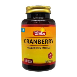 CRANBERRY - Concentrado 550mg Suplemento alimentar Natural Weather - 60 softgels