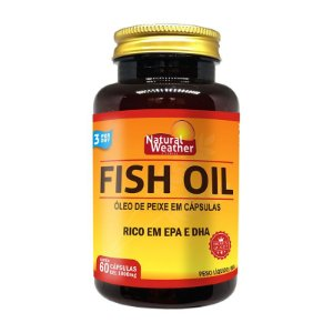 FISH OIL - Ômega 3 1000mg Rico em EPA e DHA Natural Weather  60 softgels