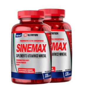 2 Sinemax termogenico Ultra Concentrado MD Nutrition 120 Cápsulas