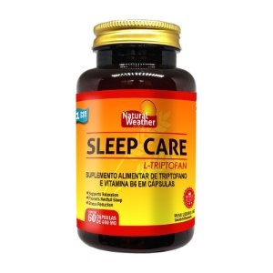 SLEEP CARE - TRIPTOFANO + VITAMINAS + MINERAIS - 60 CÁPSULAS