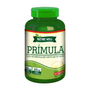 ÓLEO DE PRÍMULA 500mg Nature Well - 60 cápsulas veganas