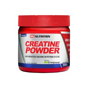 Creatine Powder Creapure 300g - MD Nutrition Suplemento de creatina em pó