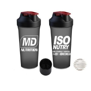 COQUETELEIRA COMPARTIMENTO ISO NUTRY MD NUTRITION - PRETO