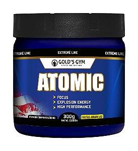 Atomic Gold's Gym Pré-treino em pó 300g  Sabor Frutas Amarelas
