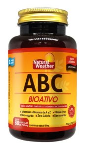 ABC Bioativo Natural Weather Minerais Quelatos, Vitaminas Biotivas - 60 Cápsulas